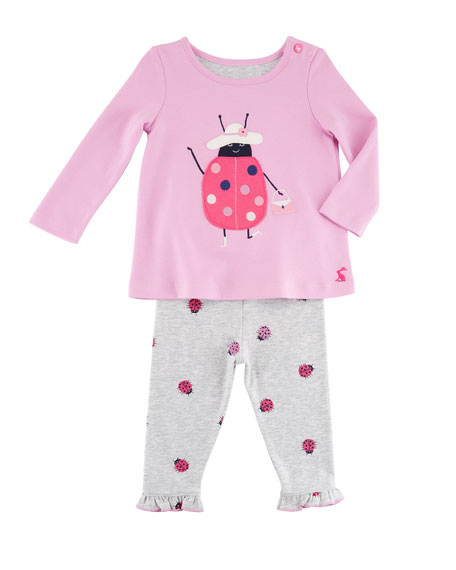 Joules Two-Piece Ladybug Outfit Set, Size 6-24 Months