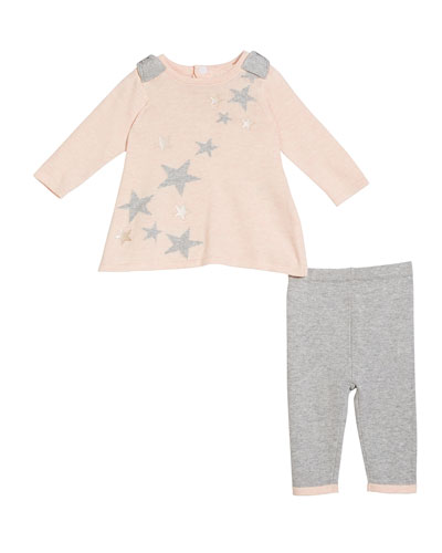 Star Intarsia Sweater Tunic w/ Matching Leggings, Size 3-9 Months
