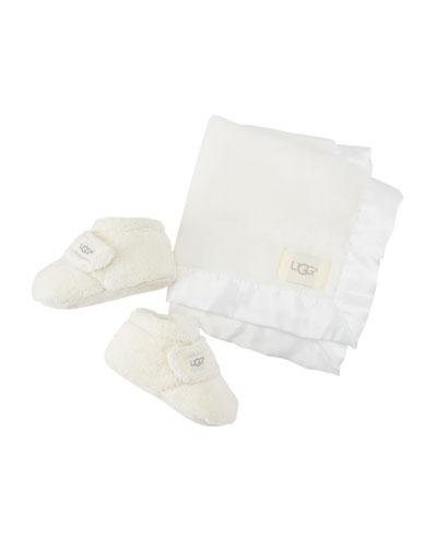 Bixbee Booties & Lovey Baby Blanket Set