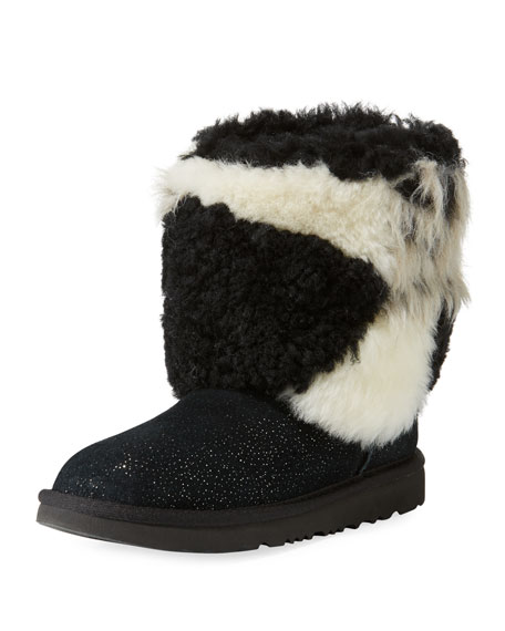 be315db582f Classic Short Patchwork Fluff & Glitter Boot Toddler