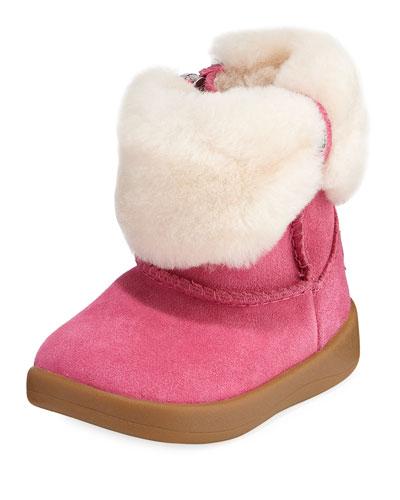 Ramona Suede Boot w/ Shearling Cuff, Baby
