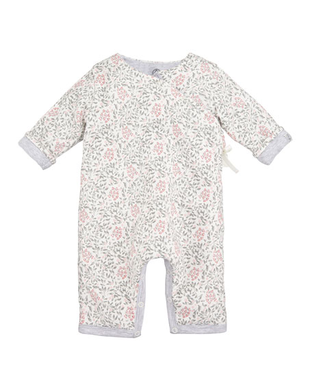 Taiga Floral Printed Coverall, Baby Girl Size 1-12 Months