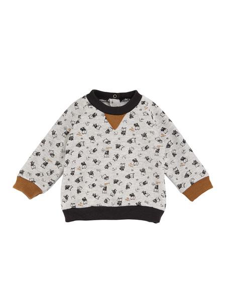 Petit Bateau Baby Boy Owl Long-Sleeve Sweatshirt, Size