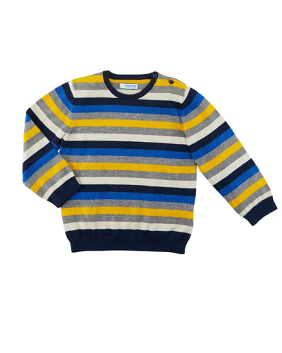 Multicolored Striped Crewneck Sweater, Size 12-36 Months