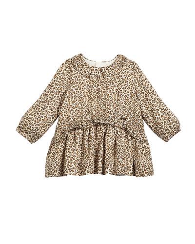 Long-Sleeve Leopard-Print Dress  Size 6-36 Months