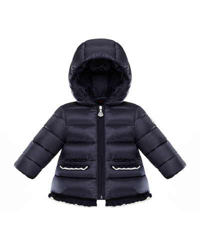 Temoe Crochet-Trim Hooded Puffer Jacket  Size 12M-3