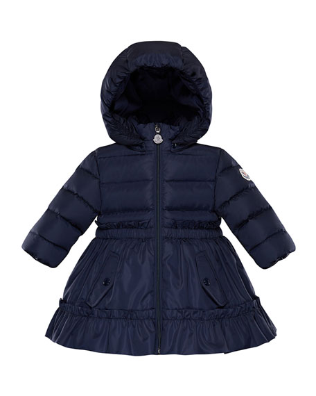 3afaf83ca Vairea Ruffle-Trim Hooded Puffer Jacket Size 12M-3
