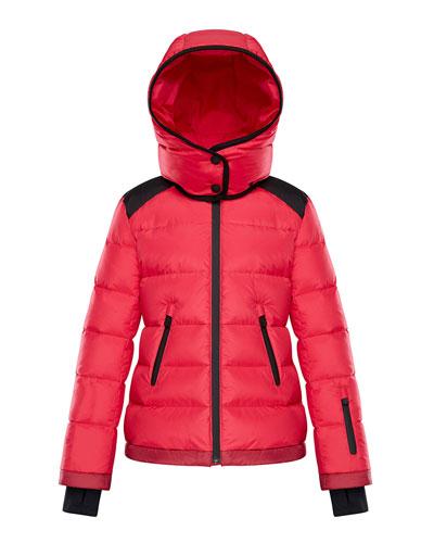 Donzenac Contrast-Trim Quilted Jacket, Size 8-14