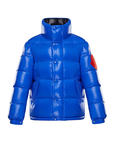 Dervaux Stand-Collar Quilted Jacket w/ Contrast Logo, Size 4-6