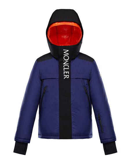 Moncler Carmaux Two-Tone Logo Jacket, Size 4-6