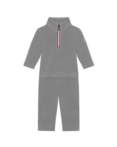 Half-Zip Pullover w/ Matching Sweatpants, Size 6M-3
