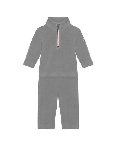 Half-Zip Pullover w/ Matching Sweatpants, Size 6M-3