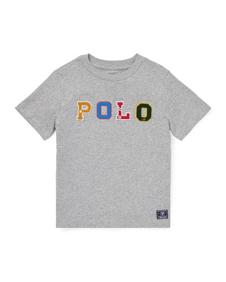 RALPH LAUREN CHILDRENSWEAR Novelty Logo T-Shirt, Size 2-4 in Gray