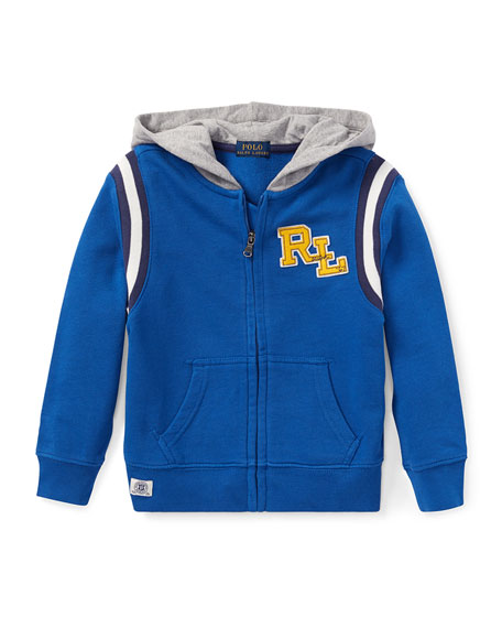 23b98b27a Ralph Lauren Childrenswear Hooded Logo Zip-Up Jacket