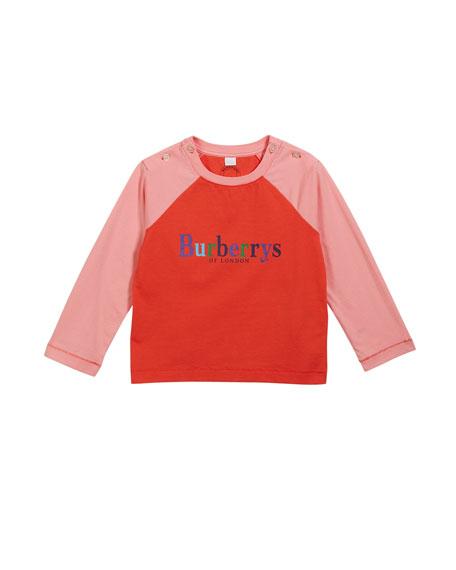 Burberry Caris Logo Baseball Tee, Size 6M-3