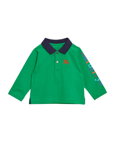 Lael Colorblock Collared Shirt, Size 12M-3