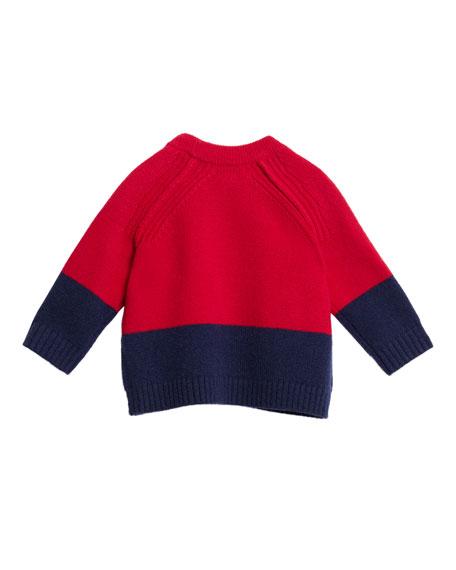 Alister Colorblock Cashmere Sweater, Size 12M-3