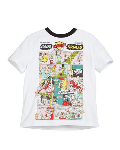 Comic Strip Graphic Short-Sleeve Tee, Size 4-14