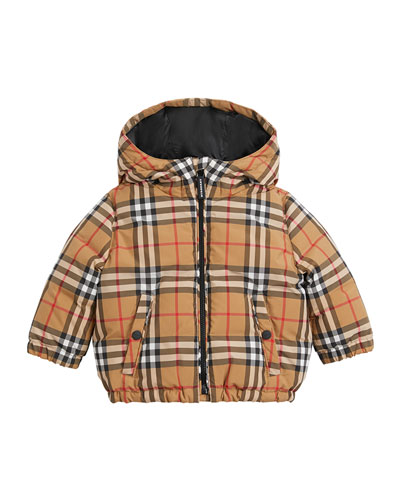 Rio Check Hooded Puffer Coat  Size 12M-3