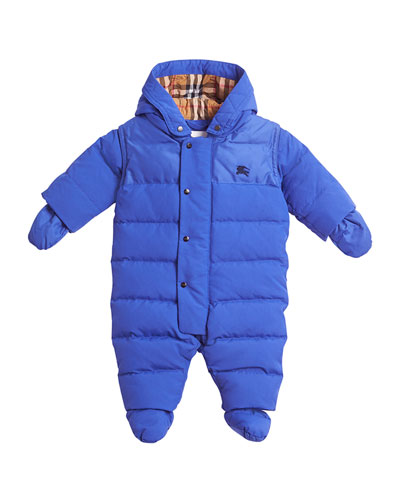 Ezra Hooded Puffer Snowsuit, Size 6-18 Months