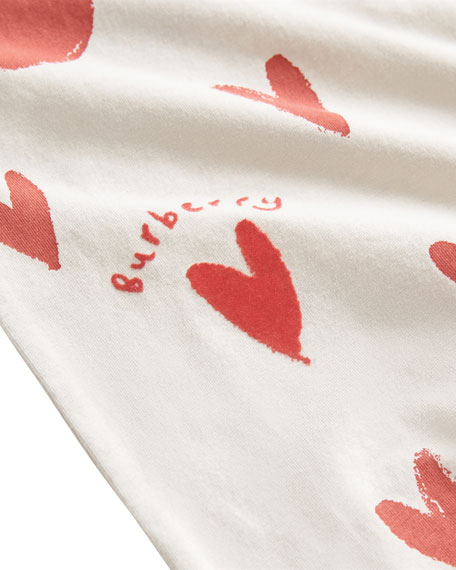 f6f401840a5f Burberry Hearts   Dots Footie Pajamas w  Matching Hat