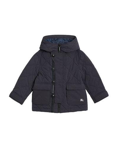 Doug Quilted Puffer Coat, Size 4-14