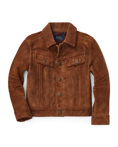 Suede Trucker Jacket, Size 5-7