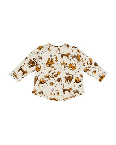 Krazy Cat-Print Long-Sleeve T-Shirt, Size 0-24 Months