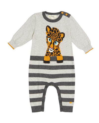 Toto Cheetah Intarsia Coverall, Size 0-18 Months
