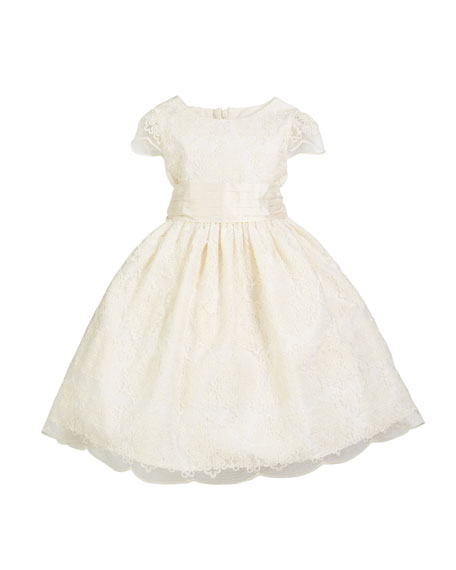 ebd1603af Luli & Me Scallop Lace Bow-Back Dress, Size 7-10 and Matching Items