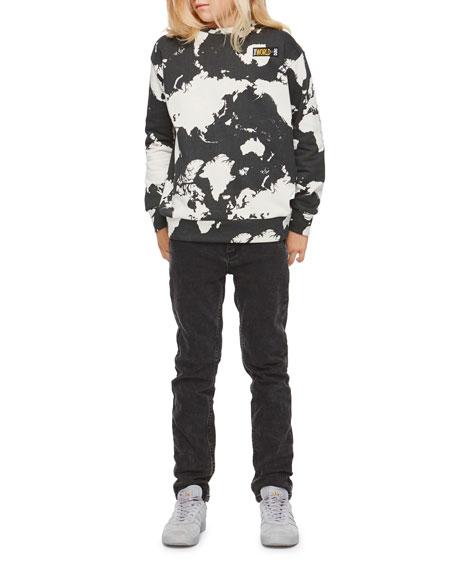 Molo Madism World Map Sweatshirt Size 4 12