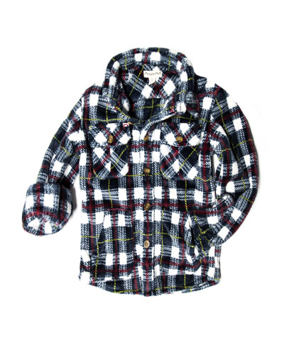 Snow Fleece Plaid Shirt, Size 2-10