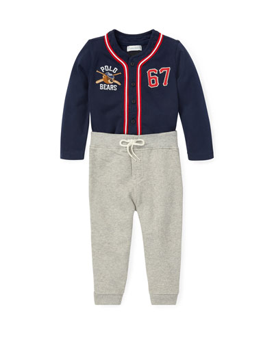 Two-Piece Baseball Outfit, Size 6-24 Months