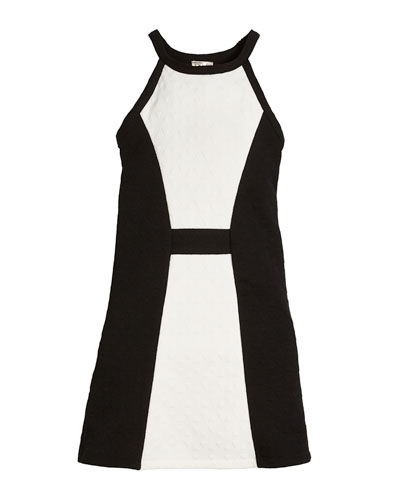 Cara Textured Colorblock Dress, Size S-XL
