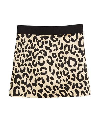 Cheetah-Print Mini Skirt, Size 8-16