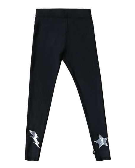 Terez Hologram Star & Lightning Bolt Foil Leggings,