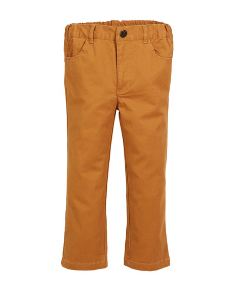 FORE Brushed Twill Straight-Leg Pants, Size 2-8 in Brown