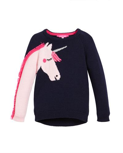Geegee Unicorn Intarsia Sweater, Size 2-6