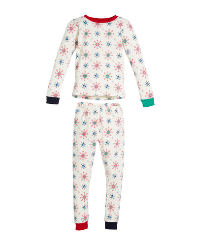 Holiday Snowflake Pajama Set, Size 2-8