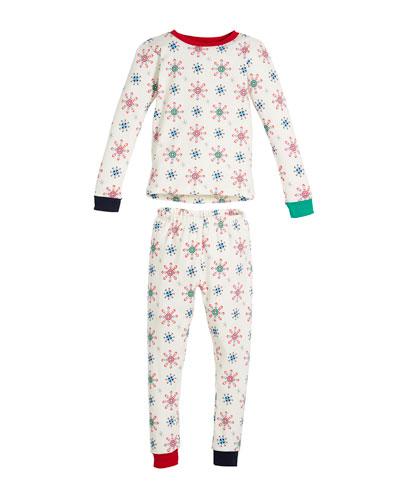 Holiday Snowflake Pajama Set  Size 10-14