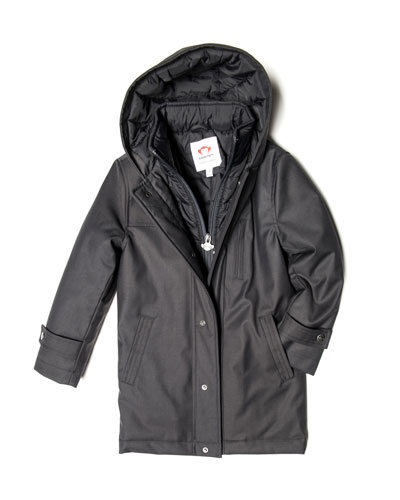Gotham Hooded Coat, Size 4-14