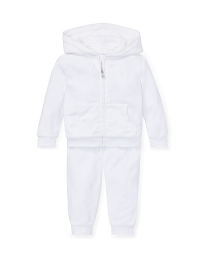 French Terry Zip-Up Jacket w/ Sweatpants, Size 6-24 Months