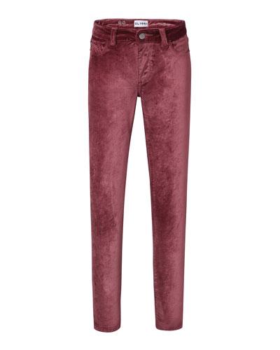 Chloe Straight-Leg Velvet Pants  Size 7-16