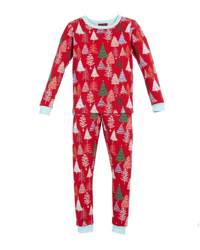 Holiday Trees Pajama Set, Size 2-8