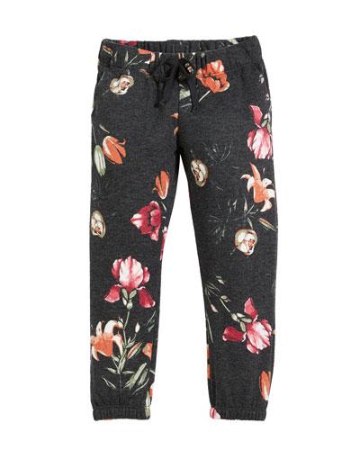 Tulip-Print Sweatpants, Size 6-14