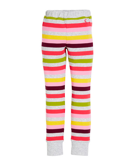Joules Isla Rib-Knit Striped Leggings, Size 2-6