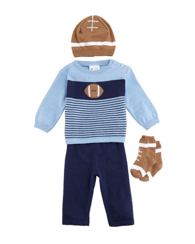 Football 4-Piece Layette Outfit Set, Size 24 Months