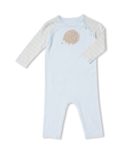 Hedgehog Intarsia Coverall, Size 0-12 Months
