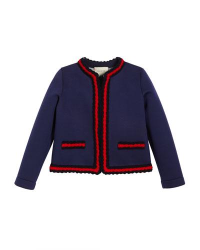 Neoprene Web-Trim Jacket, Size 4-12