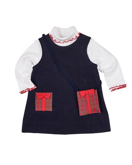 Florence Eiseman Pocket Full of Presents Corduroy Dress